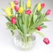 Royalty-Free Stock Photo: Yellow and red tulips