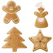 Christmas Gingerbread Cookies - Stock Vector