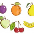 Fruits icons — Stock Vector #4596009