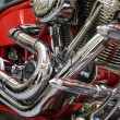Red motor bike close up - Photo