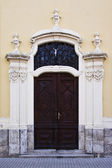 Neo ghotic carved door — Stock Photo