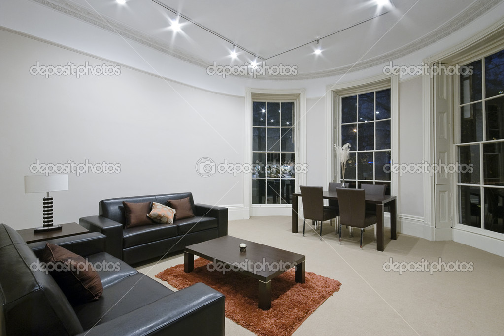 atemberaubende wohnzimmer — stockfoto © jrphoto #3982358, Moderne deko