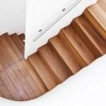 Luxurious wooden staircase — Stock Photo