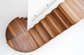 Luxurious wooden staircase — Stock Photo