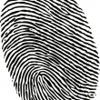 Editable vector fingerprint - Stock Vector