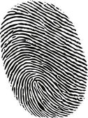 Editable vector fingerprint — Vettoriale Stock