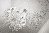 Crystal glass chandelier — Stock Photo