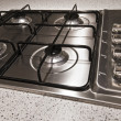 Four ring gas hob — Stock Photo