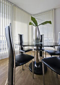 Contemporary dining area — Stock Photo