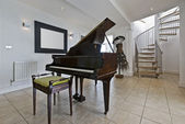 Hallway with piano — Stock Photo