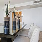 Modern luxury dining table — Stock Photo