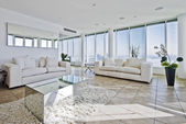 Penthouse living room — Stock Photo