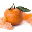 Stock Photo: Tangerine with shares