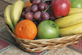 Fruit in a basket — Stock Photo