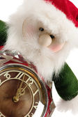 The New Year's gnome with hours — Stock Photo