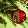 New Year's and Christmas ornaments — 图库照片