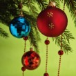 New Year's and Christmas ornaments — Photo