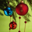 New Year's and Christmas ornaments — Stock fotografie