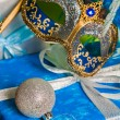 Stock Photo: New Year's and Christmas ornaments and carnival mask