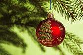 New Year's and Christmas ornaments — Stock Photo