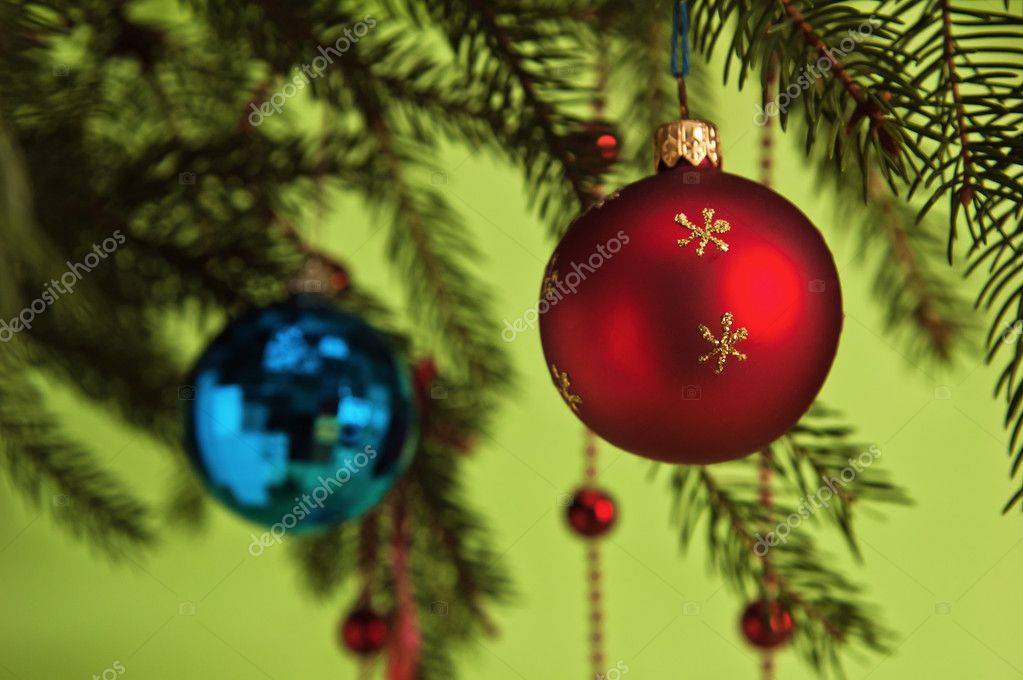 New Year's and Christmas ornaments  Foto de Stock   #4375411