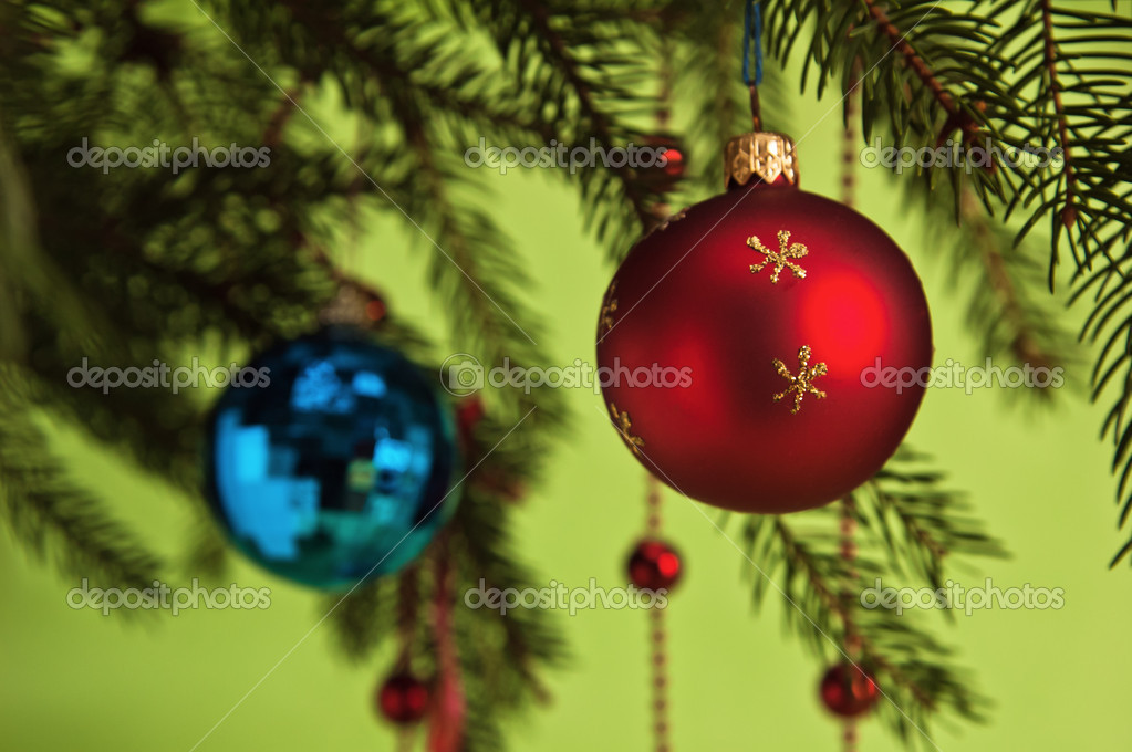 New Year's and Christmas ornaments — Stock Photo #4375411