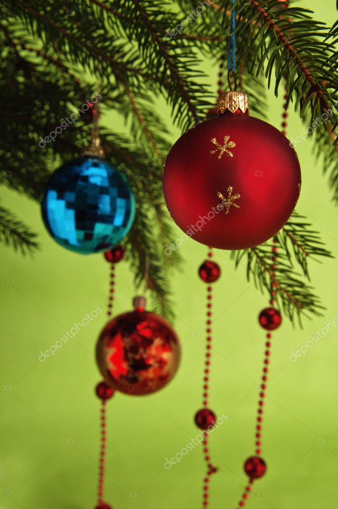 New Year's and Christmas ornaments — Stock Photo #4375413