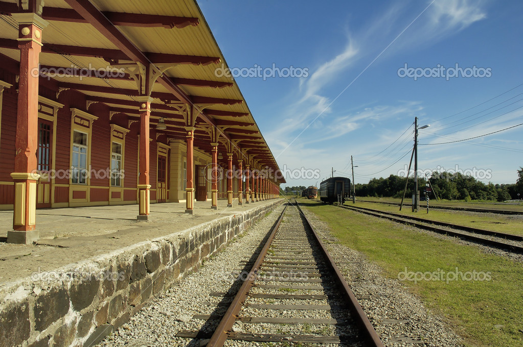 Old railway station in Haapsalu  — Stock Photo #4669886