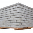 Brick pallet - Stock Photo