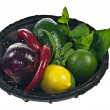 Basket with vegetables — Stock Photo #5192722
