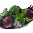 Red onions and garlic — Stock Photo #5208034