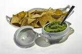 Guacamole a nachos — Stock fotografie
