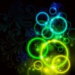 Vector de stock : Glowing background