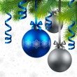 Royalty-Free Stock Imagem Vetorial: Christmas background with baubles