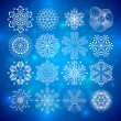 Snowflakes collection — Stock vektor #4219334