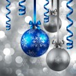 Royalty-Free Stock Imagen vectorial: Christmas background with baubles
