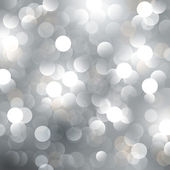 Christmas silver background — Vector de stock