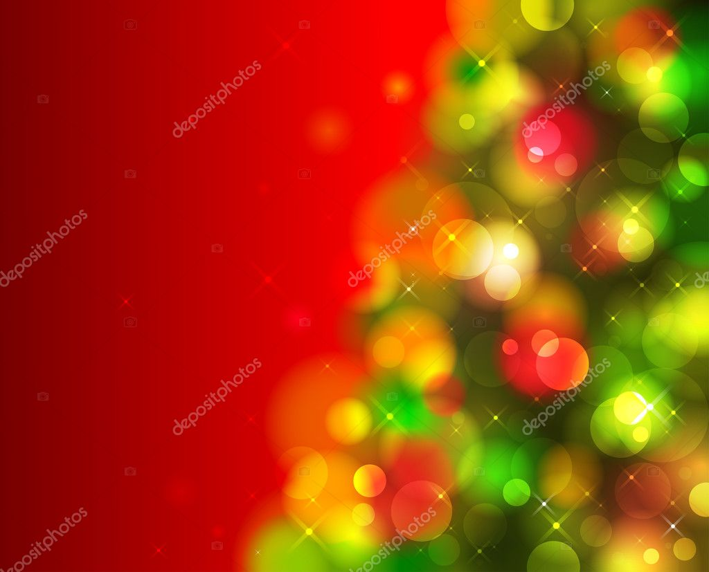 Christmas shining background with green fir tree — Stock Vector #4219257