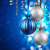 Christmas background with baubles — Vetor de Stock