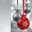 Christmas background with baubles — Vector de stock #4334785