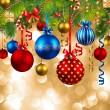 baubles ile Noel arka plan — Stok Vektör