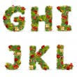 GHIJKL, vector christmas tree font — Stock Vector #4413323