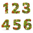 ABCDEF, vector christmas tree font — Stock Vector #4413502