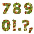 Royalty-Free Stock Imagen vectorial: ABCDEF, vector christmas tree font