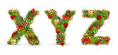 Xyz, fonte de árvore de natal de vetor — Vetorial Stock