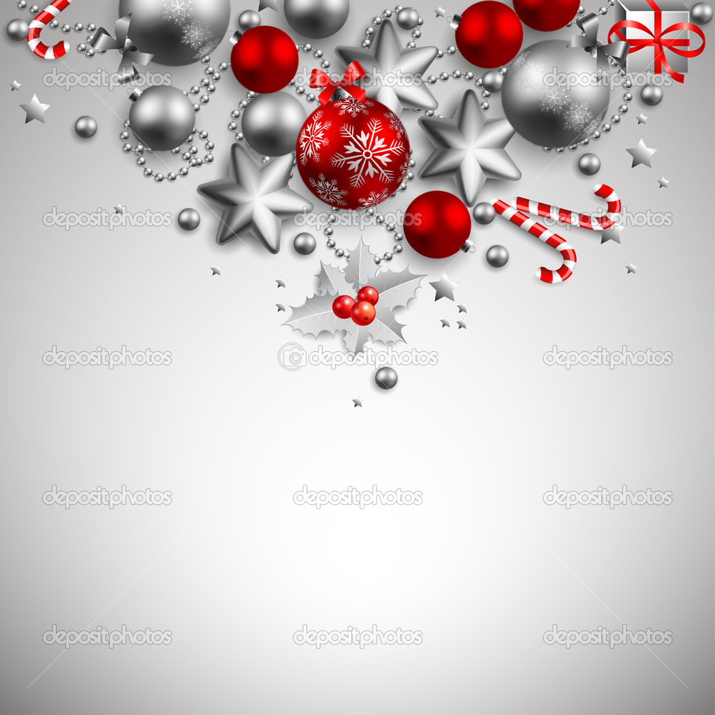 Beautiful golden and red christmas background — Stockvectorbeeld #4467309