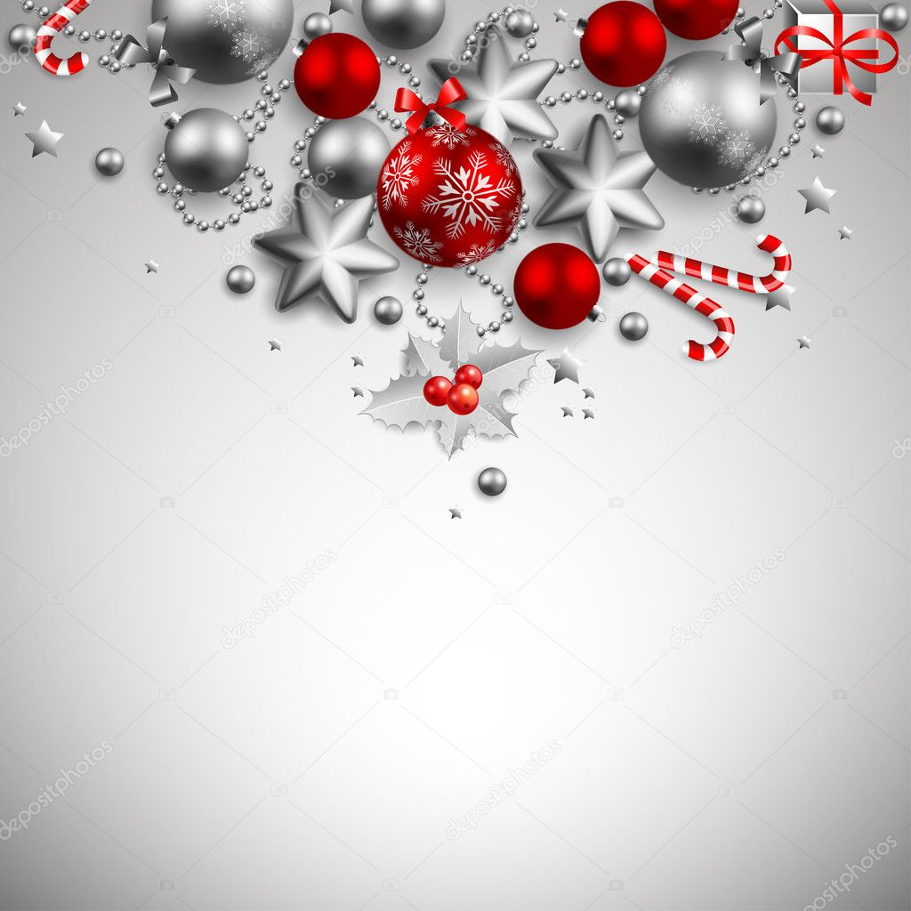 Beautiful golden and red christmas background  Vettoriali Stock  #4467309