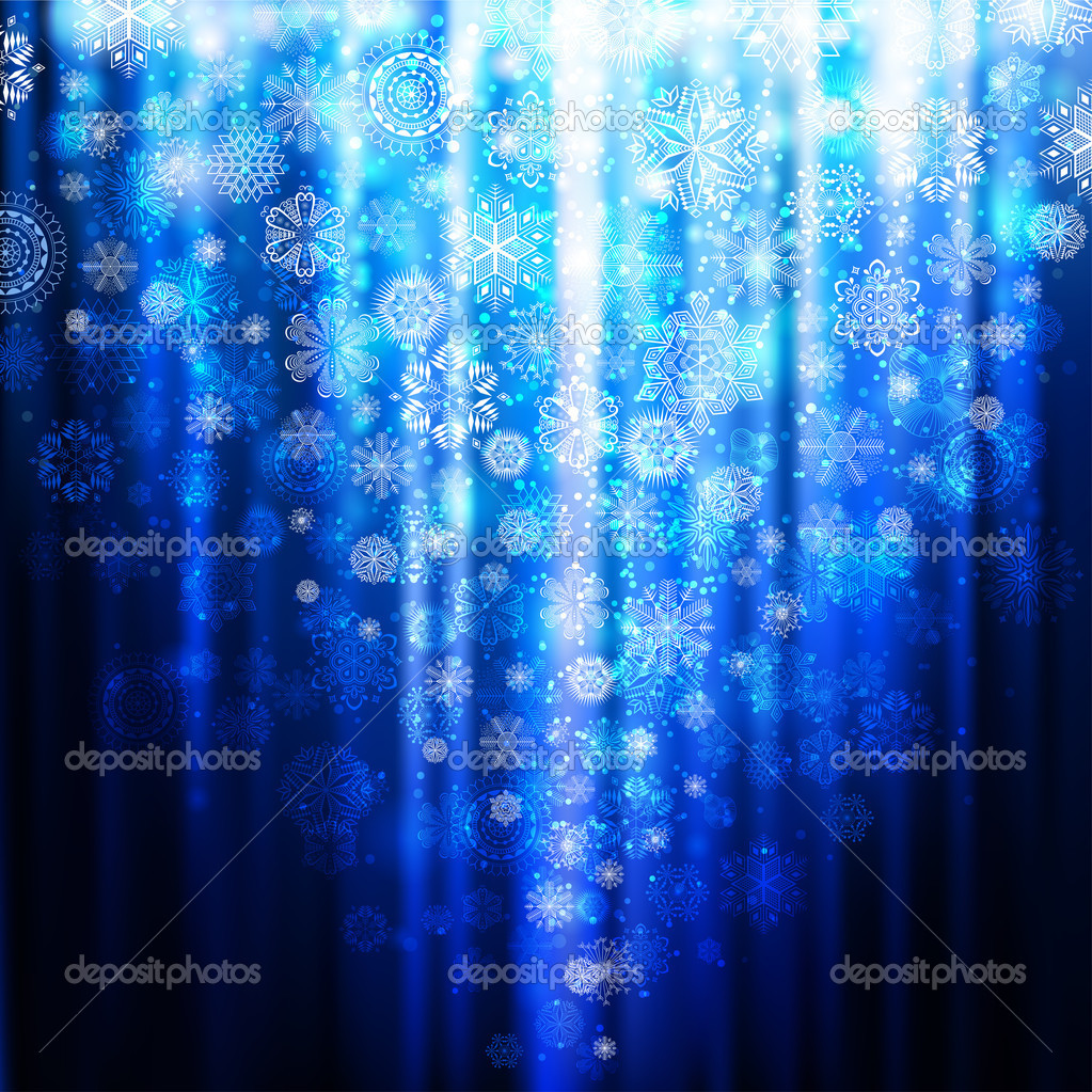 Blue christmas background with snowflakes — Stock Vector #4491319