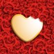 kalp kart şeklinde — Stok Vektör