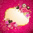 Royalty-Free Stock Векторное изображение: Valentine`s day background